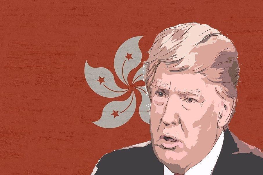 HONG KONG DEMOCRACY ADVOCATES BACK TRUMP